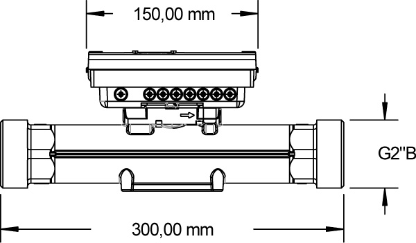 Massskizze F96Plus Qp10 Baulänge 300 mm